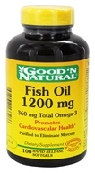 Good 'N Natural - Omega-3 Fish Oil 1200 mg. - 100 Softgels - $5.88