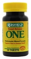 Good 'N Natural - One Long Acting Multiple Vitamin and Mineral Supplement Time Release - 30 Tablets (074312436604)