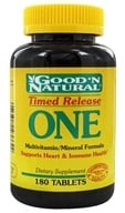 Good 'N Natural - One Long Acting Multiple Vitamin and Mineral Supplement Time Release - 180 Tablets (074312436642)