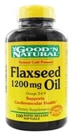 Good 'N Natural - Organic Flaxseed Oil Omega 3-6-9 1200 mg. - 100 Softgels - $6.63