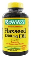Good 'N Natural - Organic Flaxseed Oil Omega 3-6-9 1200 mg. - 100 Softgels, from category: Nutritional Supplements