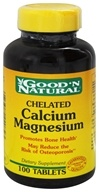 Good 'N Natural - Chelated Calcium-Magnesium - 100 Tablets (074312440823)