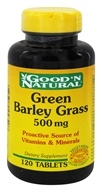 Good 'N Natural - Green Barley Grass 500 mg. - 120 Tablets (074312458408)