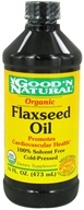 Image of Good 'N Natural - Organic Flaxseed Oil - 16 oz.