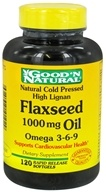 Good 'N Natural - Organic High Lignan Flaxseed Oil Omega 3 6 9 1000 mg. - 120 Softgels by Good 'N Natural