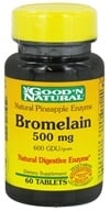 Good 'N Natural - Pineapple Enzyme Bromelain 500 mg. - 60 Tablets