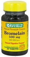 Good 'N Natural - Pineapple Enzyme Bromelain 500 mg. - 60 Tablets (074312474101)