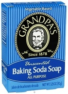 Grandpa's Soap Co. - Baking Soda All Purpose Bar Soap Unscented - 3.25 oz. (010486007080)