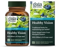 Gaia Herbs - Vision Enhancement Liquid Phyto Capsules - 60 Vegetarian Capsules, from category: Nutritional Supplements