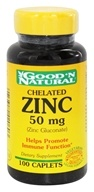 Good 'N Natural - Chelated Zinc (Zinc Gluconate) 50 mg. - 100 Caplets Formerly Tablets (074312420603)