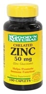 Good 'N Natural - Chelated Zinc (Zinc Gluconate) 50 mg. - 100 Caplets Formerly Tablets by Good 'N Natural