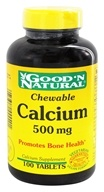 Good 'N Natural - Chewable Calcium 500 mg. - 100 Tablets