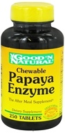 Good 'N Natural - Chewable Papaya Enzyme - 250 Tablets, from category: Nutritional Supplements