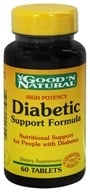 Good 'N Natural - High Potency Diabetic Support Formula - 60 Tablets (074312449550)