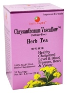 Health King - Chrysanthemum Vascuflow Herb Tea - 20 Tea Bags (646322000115)