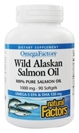 Natural Factors - OmegaFactors Wild Alaskan Salmon Oil 1000 mg. - 90 Softgels - $8.37