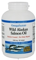 Natural Factors - OmegaFactors Wild Alaskan Salmon Oil 1000 mg. - 90 Softgels (068958022628)