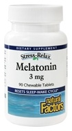 Natural Factors - Stress-Relax Melatonin 3 mg. - 90 Tablets - $5.57