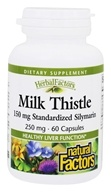 Image of Natural Factors - Milk Thistle Extract 250 mg. - 60 Capsules