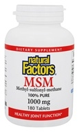 100 % Pure MSM (metylo-sulfonylo-metan) 1000 mg. - 180 Tablets by Natural Factors