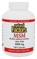 Natural Factors - MSM (Methyl-sulfonyl-methane) 1000 mg. - 180 Capsules - $13.77