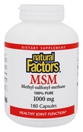 Natural Factors - MSM (Methyl-sulfonyl-methane) 1000 mg. - 180 Capsules by Natural Factors