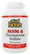 Natural Factors - MSM & Glucosamine Sulfate - 180 Capsules (068958026992)