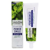 Image of Jason Natural Products - Tooth Gel PowerSmile All Natural Whitening Anti-Cavity CoQ10 with Fluoride Powerful Peppermint - 6 oz.