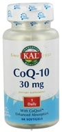 Kal - Co-Q-10 30 mg. - 60 Softgels, from category: Nutritional Supplements