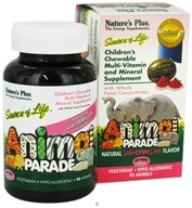 Image of Nature's Plus - Animal Parade Children's Chewable Multi-Vitamin Watermelon - 90 Chewable Tablets