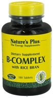 Nature's Plus - B-Complex with Rice Bran - 180 Tablets