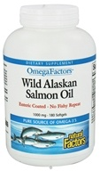 Natural Factors - OmegaFactors Wild Alaskan Salmon Oil 1000 mg. - 180 Enteric Coated Softgels by Natural Factors