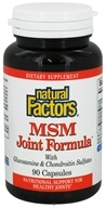 Natural Factors - MSM Joint Formula with Glucosamine & Chondroitin Sulfates - 90 Capsules (068958026954)