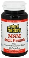 Natural Factors - MSM Joint Formula with Glucosamine & Chondroitin Sulfates - 90 Capsules - $11.13