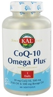 Kal - CoQ-10 Omega Plus - 60 Softgels CLEARANCED PRICED - $11.67