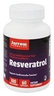 Jarrow Formulas - Resveratrol 100 mg. - 60 Vegetarian Capsules, from category: Nutritional Supplements