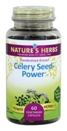 Image of Nature's Herbs - Celery Seed-Power - 60 Capsules