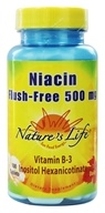 Image of Nature's Life - Flush-Free Niacin 500 mg. - 100 Tablets