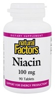 Image of Natural Factors - Niacin 100 mg. - 90 Tablets
