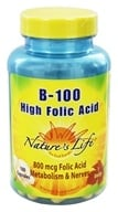 Nature's Life - B-100 High Folic Acid - 100 Capsules (040647004405)