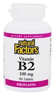 Natural Factors - Vitamin B2 Riboflavin 100 mg. - 90 Tablets