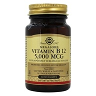 Solgar - Megasorb Vitamin B12 With Dibencozide (Coenzyme B 12) 5000 mcg. - 30 Nugget(s), from category: Vitamins & Minerals