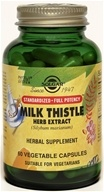 Image of Solgar - Milk Thistle Herb Extract - 60 Vegetarian Capsules