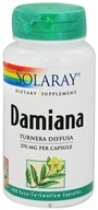 Solaray - Damiana Leaves 370 mg. - 100 Capsules (076280012002)