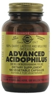 Image of Solgar - Advanced Acidophilus - 100 Vegetarian Capsules