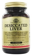 Solgar - Desiccated Liver - 100 Tablets - $9.26