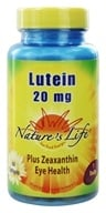 Nature's Life - Lutein 20 mg. - 60 Softgels by Nature's Life