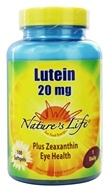 Nature's Life - Lutein Plus Zeaxanthin Eye Health 20 mg. - 100 Softgels - $26