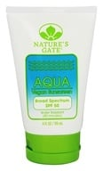 Nature's Gate - Sunscreen Lotion Aqua Block Very Water-Resistant Fragrance-Free 50 SPF - 4 oz. (078347300756)