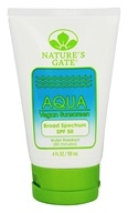 Nature's Gate - Sunscreen Lotion Aqua Block Very Water-Resistant Fragrance-Free 50 SPF - 4 oz., from category: Personal Care